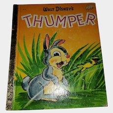 VINTAGE Children's Book Walt Disney's Thumper