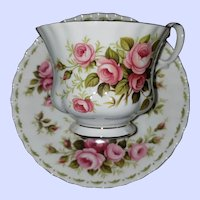 Royal Albert Bone China England Flower if the Month Series Rose June Teacup Saucer