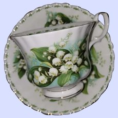 Royal Albert Bone China Flower of the Month Series Lily of The Valley May Teacup Saucer