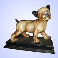SWEET Puppy Dog Figural Celluloid Plastic Statue Figurine