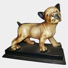 SWEET Puppy Dog Figural Celluloid Plastic Statue Figurine