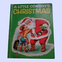 A little Cowboy's Christmas WONDER Book C  1951