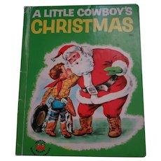 A little Cowboy's Christmas WONDER Book C  1951
