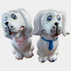 Mr & Mrs Puppy Dog Salt Pepper Spice Shaker Set