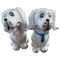 Mr & Mrs Puppy Dog Salt Pepper Spice Shaker Set