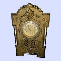 AS Is Lovely Decorative Metalware Clock Case Clock not in working order