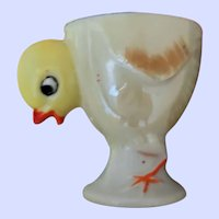 SWEET Little Hand Painted Ceramic Chick Eggcup Egg Cup