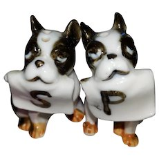 MINI salt Pepper Spice Shaker Set Boxer Puppy Dogs