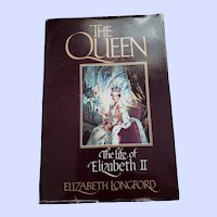 THE queen Hard Civer Book The Life of Elizabeth II by Elizabeth  Longford