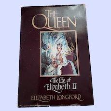 THE queen Hard Civer Book The Life of Elizabeth II by Elizabeth  Longford