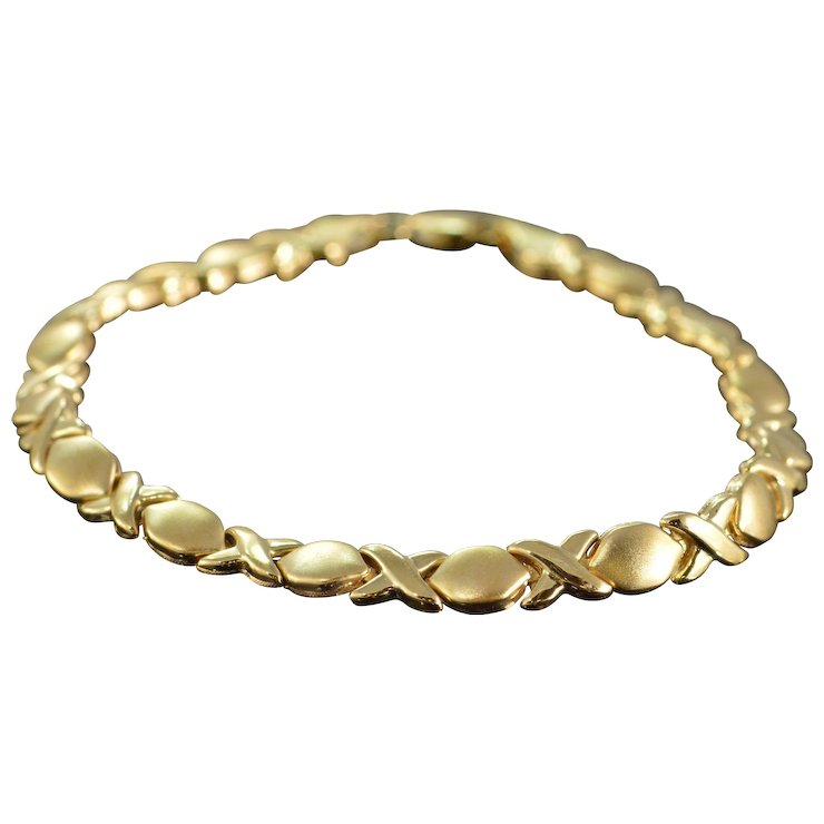 Hugs Kisses Bracelet 14k Yellow Gold