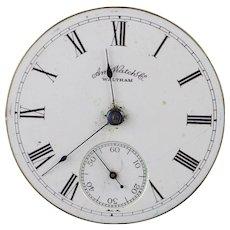 Waltham 1889 11 Jewel 18s Pocket Watch Movement    [QPQQ]