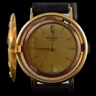 14K Arenda Faux Coin Vintage Mechanical Watch with Hidden Face  Yellow Gold  [QPQX]