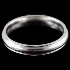 Platinum 4mm Classic Wedding Band Men's Ring Size 10  [QWQX]