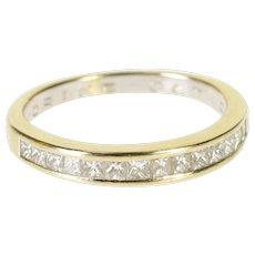 14K 0.50 Ctw Diamond Wedding Anniversary Band Ring Size 9.25 Yellow Gold [QWQX]