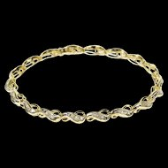 "10K 1.00 Ctw Baguette Diamond Channel Wavy Tennis Bracelet 7.3"" Yellow Gold  [QWXK]"