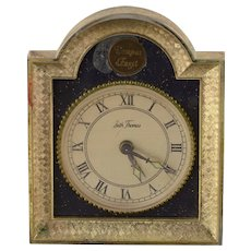 Base Metal Vintage Seth Thomas Desk Alarm Clock    [QWXS]