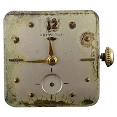 Vintage Hamilton Mechanical 22 Jewel Parts Wrist Watch Movement    [QWQX]