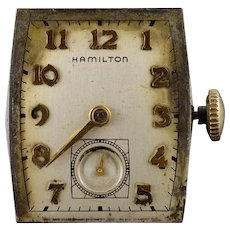 Vintage Hamilton Mechanical 19 Jewel Parts Wrist Watch Movement    [QWXS]