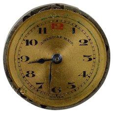 American Maid Vintage 22mm 7 Jewels Mechanical Wrist Watch Movement    [QWXP]