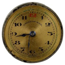 American Maid Vintage 22mm 7 Jewels Mechanical Wrist Watch Movement    [QWQX]