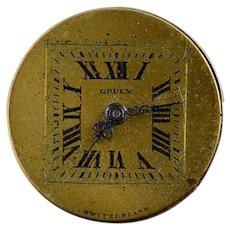 Vintage Gruen Mechanical Wrist Watch Movement    [QWQX]