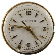Vintage Movado Mechanical 17 Jewel 18mm Wrist Watch Movement    [QWXP]