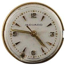 Vintage Movado Mechanical 17 Jewel 18mm Wrist Watch Movement    [QWQX]