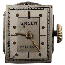 Vintage Gruen 17 Jewel Mechanical Wrist Watch Movement    [QWQX]