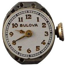 12.8mm Vintage Bulova 17 Jewel Mechanical Wrist Watch Movement    [QWQX]