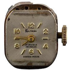 Vintage Kaltron 17 Jewel Mechanical Wrist Watch Movement    [QWQX]
