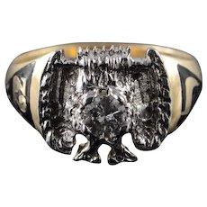 10K 0.44 Ct Diamond Masonic Mason Eagle Ring Size 11 Yellow Gold [QWXC]