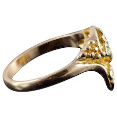 10K Black Hills Gold Textured Leaf Cluster Statement Ring Size 6 Yellow Gold [QWQC]