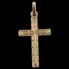 10K Classic Cross Charm/Pendant Yellow Gold  [QWQC]