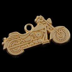 14K Motorcycle Biker Bike Motor Charm/Pendant Yellow Gold  [QWQC]