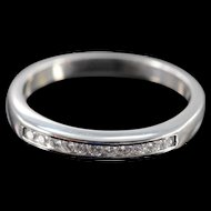 Platinum 0.25 Ctw F / VS-SI Diamond Channel Set Wedding Ring Size 8