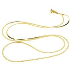 """14K 1.7mm Pressed Curb Link Necklace 23.75"""" Yellow Gold  [QWXS]"""