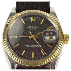Oyster Perpetual Rolex Date Stainless Gold Bezel Men's Watch Men's Watch [QWXS]