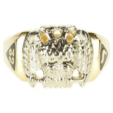 14K Masonic 32nd Degree Eagle Emblem Men's Ring Size 11.75 Yellow Gold [QPQQ]