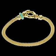 "14K Round Ball Mesh Link Chain Fancy Bracelet 7"" Yellow Gold  [QWXP]"