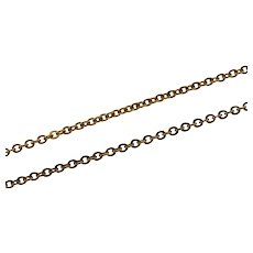 "Gold Filled 1.6mm Cable Chain Fancy Link Necklace 18""   [QPQQ]"