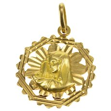 medallion products pendant spiritual mother madonna necklace mary