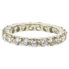 14K Cubic Zirconia Infinity Anniversary Wedding Band Ring Size 6 White Gold [QPQC]