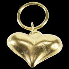 14K Puffy 3D Heart Love Symbol Charm/Pendant Yellow Gold  [QWQX]