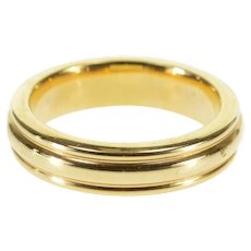 14K Scalloped Grooved Rounded Wedding Band Ring Size 5.25 Yellow Gold [QWQX]