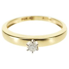 10K Prong Set Diamond Solitaire Engagement Ring Size 7 Yellow Gold [QRXT]