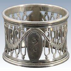 Silver William Hutton & Sons English Napkin Ring    [QWXK]
