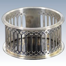 Silver Edward John Haseler & Noble Haseler English Napkin Ring    [QWXK]