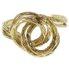 10K Textured Root Branch Design Twist Spiral Ring Size 6.5 Yellow Gold [QWXQ]