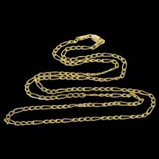 """14K 2.3mm Figaro Link Fancy Loose Chain Necklace 20.5"""" Yellow Gold  [QWXF]"""